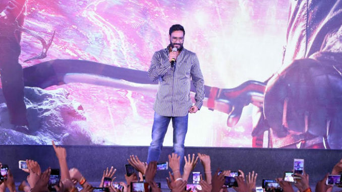 Ajay Devgn at Shivaay trailer launch in Indore