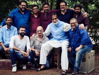 Standing left to Right: Dipankar Jojo, Nihar Ranjan Samal, Shoojit Sircar, Bishwadeep Chatterjee, Sinoy Joseph, Sitting: Left to Right: Avik Mukhopadhayay, Shantanu Moitra, Amitabh Bachchan, Aniruddha Roy Chowdhury, Ronnie Lahiri