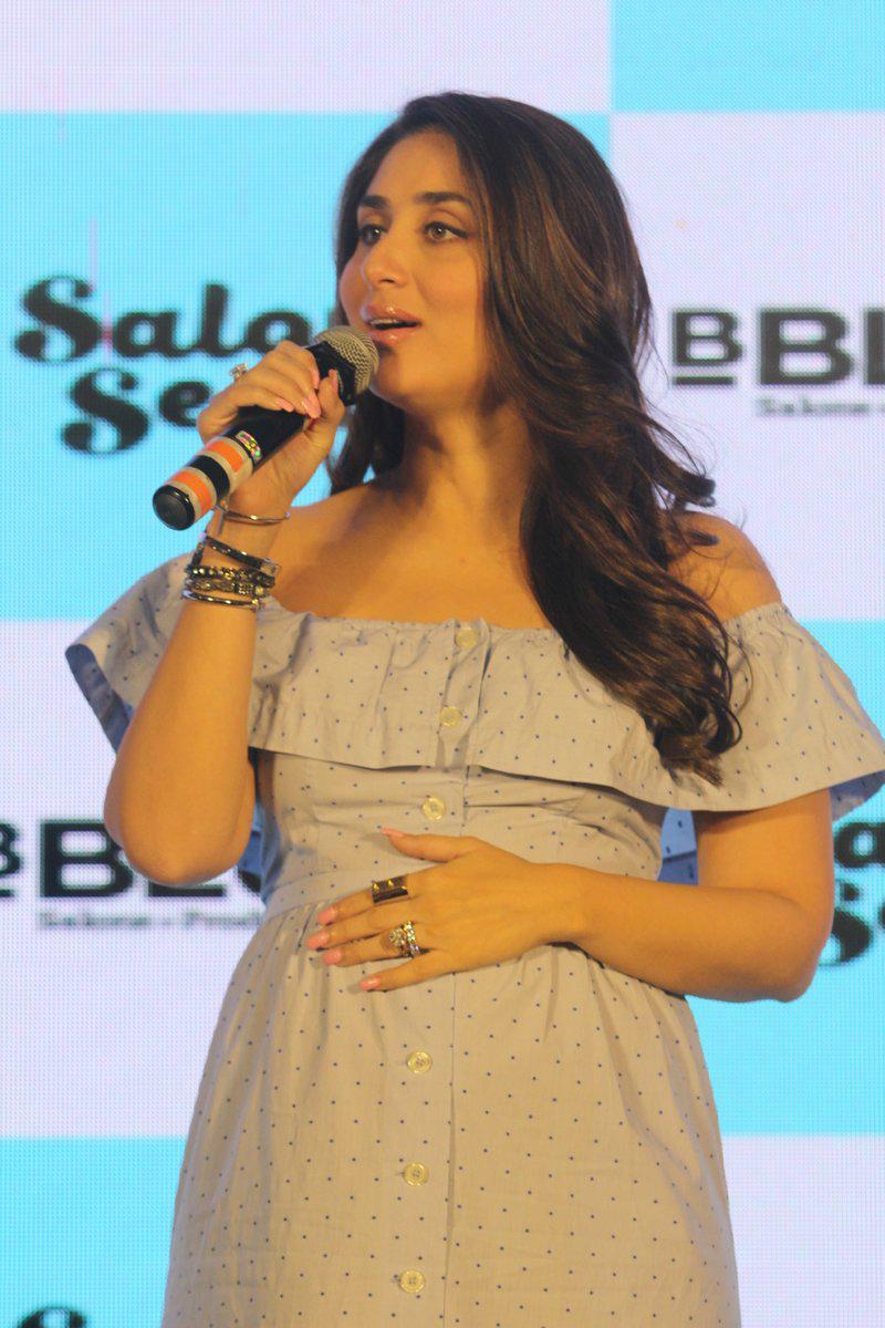 Pregnant Kareena Kapoor Khan at the launch of new B'Blunt range