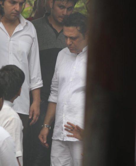 Govinda at Krushna Abhishek's father's funeral