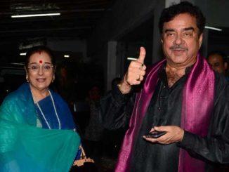 Poonam Sinha, Shatrughan Sinha at the screening of Akira