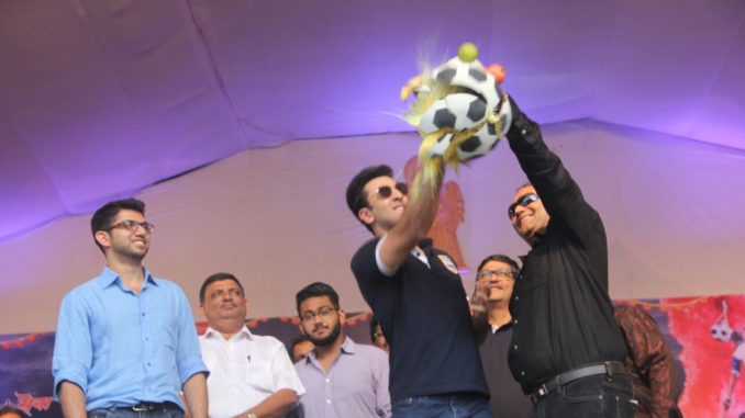 Ranbir Kapoor at Dahi Handi celebrations in Mumbai