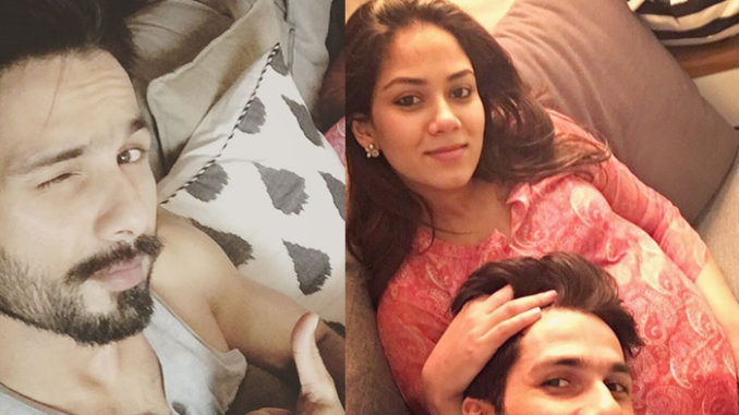Shahid Kapoor with pregnant Mira Rajput. Image Courtesy; Instagram