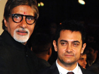 Amitabh Bachchan and Aamir Khan at an earlier event