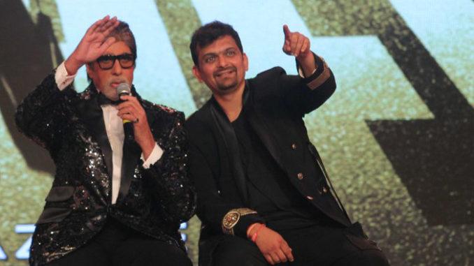 Amitabh Bachchan, Gaurang Doshi at the launch of Aankhen 2