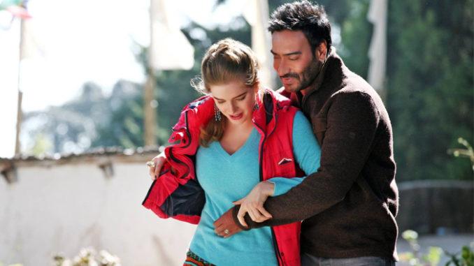Erika Kaar, Ajay Devgn in Shivaay