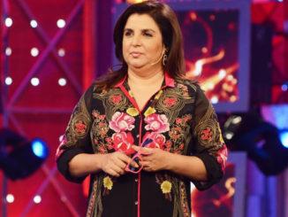 Farah Khan on the sets of Bigg Boss Halla Bol