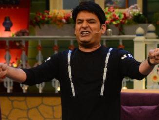 Kapil Sharma on the sets of The Kapil Sharma Show