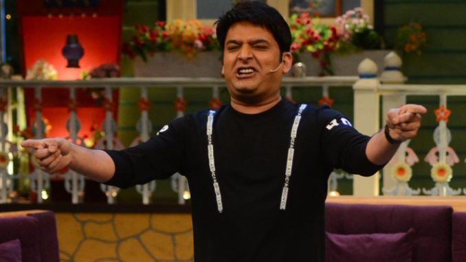 Kapil Sharma on the sets of The Kapil Sharma Show