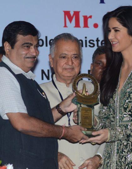 Katrina Kaif receives the Smita Patil Memorial Award