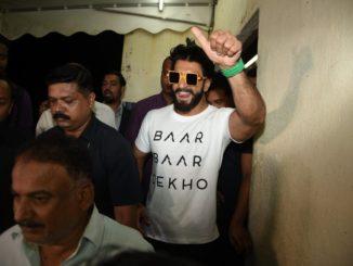Ranveer Singh at the special screening of Baar Baar Dekho