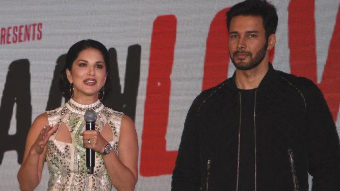 Sunny Leone, Rajneesh Duggal at the music launch of Beiimaan Love