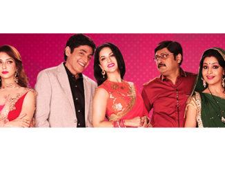 Sunny Leone with the cast of Bhabi Ji Ghar Par Hai!