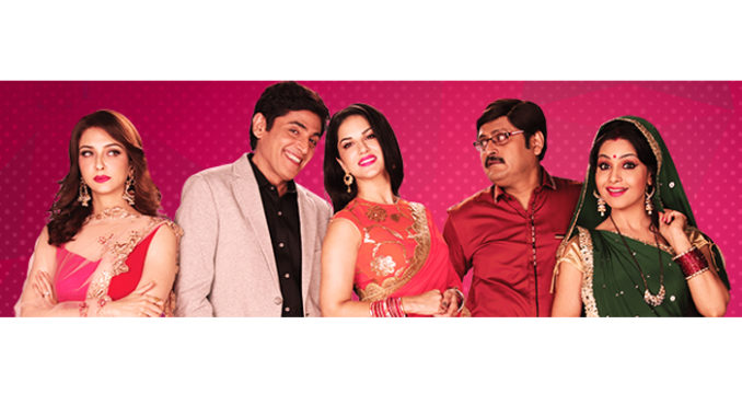 Sunny Leone with the cast of Bhabi Ji Ghar Par Hai!