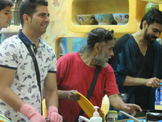 Bigg Boss 10 contestants enjoy a moment in the kitchen