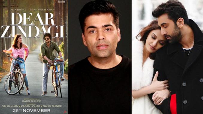 Alia Bhatt, Shah Rukh Khan in Dear Zindagi; Karan Johar; Aishwarya Rai Bachchan, Ranbir Kapoor in Ae Dil Hai Mushkil
