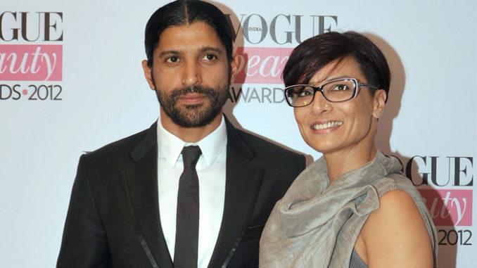 Farhan Akhtar, Adhuna Bhabani in happier times