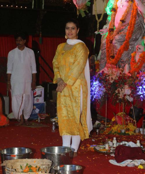 Kajol at Durga Puja celebrations