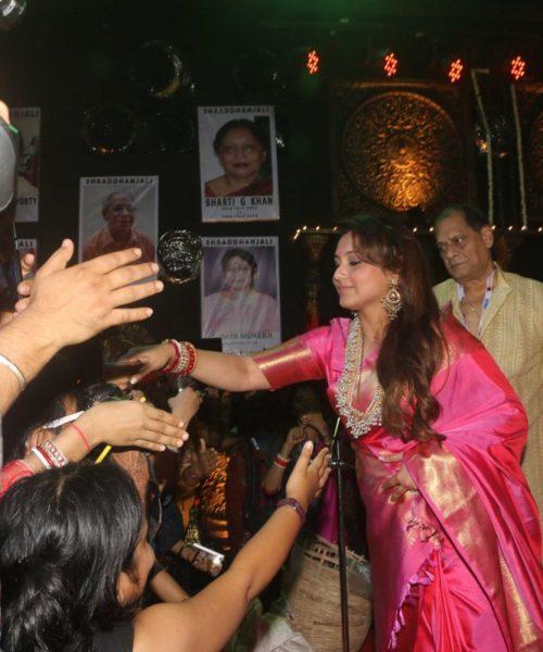 Rani Mukerji at Durga Puja celebrations