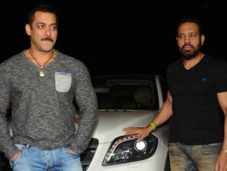 Salman Khan with his bodyguard Shera