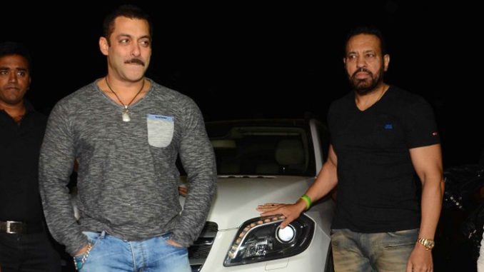 Salman Khan with his bodyguard Shera