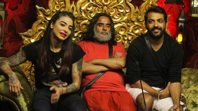 Bani, Om Swami and Manoj inside the confession room
