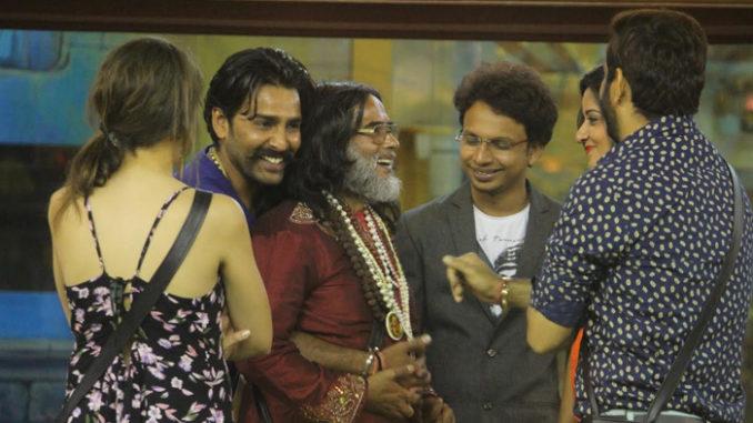 Bigg Boss contestants greet Om Swami