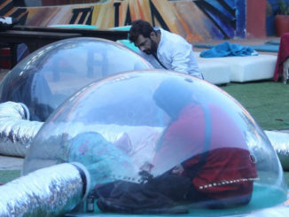 Contestants perform the dome task inside Bigg Boss 10 house