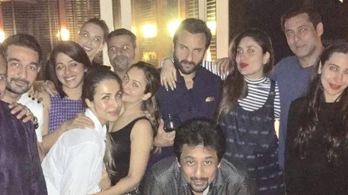 Iulia Vantur, Salman Khan, Kareena Kapoor, Saif Ali Khan, Karisma Kapoor, Malaika Arora Khan, Amrita Arora Ladak and others at the terrace party. Image Courtesy: Instagram