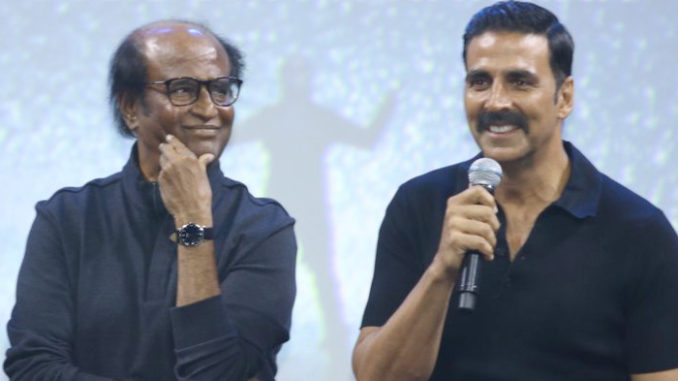 Rajinikanth, Akshay Kumar at 2.0 promotional launch