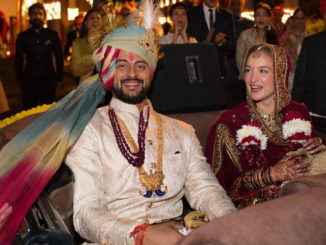 Arunoday Singh with wife Lee