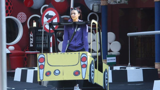 Bani performs the BB Taxi stand task