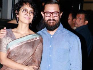 Kiran Rao, Aamir Khan at Dangal screening