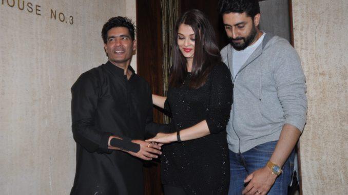 Manish Malhotra, Aishwarya, Abhishek Bachchan