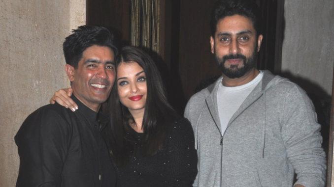 Manish Malhotra, Aishwarya Rai Bachchan, Abhishek Bachchan
