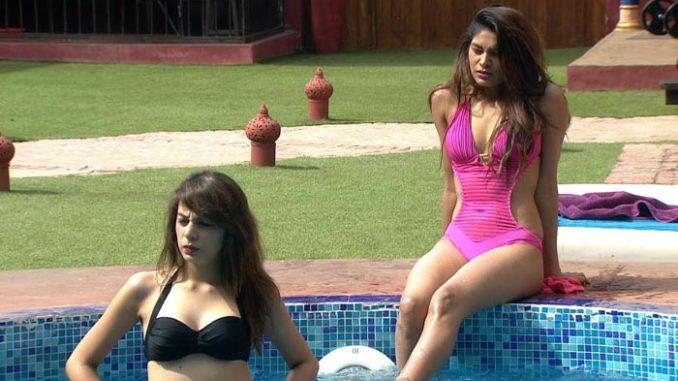 Nibhita, Lopa enjoy a dip in the pool