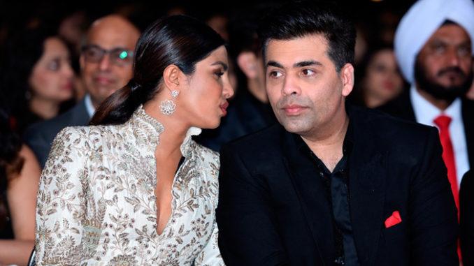 Priyanka Chopra with Karan Johar at a recent awards function