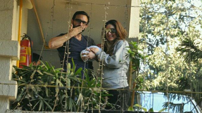 Saif Ali Khan, Kareena Kapoor with baby Taimur
