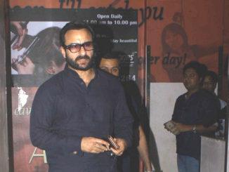 Saif Ali Khan at the screening of Dangal