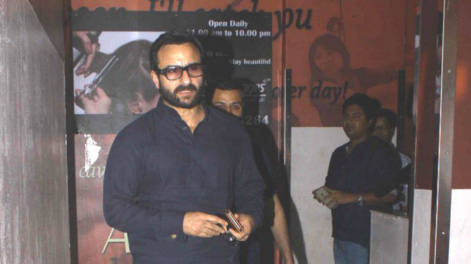 Saif Ali Khan at the screening of Dangal