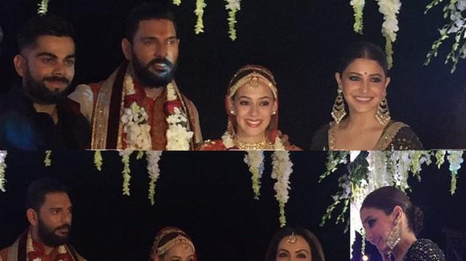Virat Kohli, Anushka Sharma, Nita Ambani wish the newlyweds Yuvraj Singh, Hazel Keech