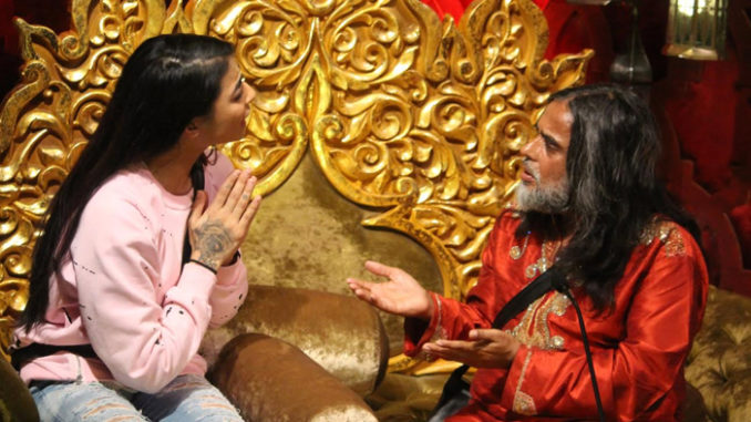 Bani, Om Swami in the confession room