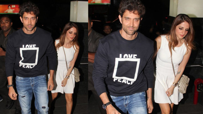 Hrithik Roshan arrives with ex-wife Sussanne Khan