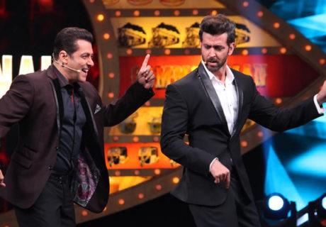 Hrithik Roshan shakes a leg with Salman Khan