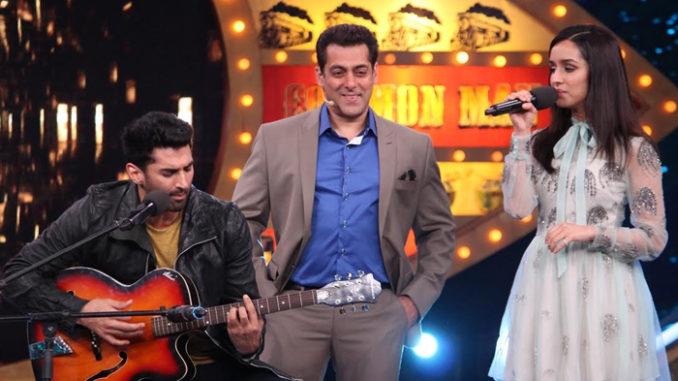 Salman Khan with Shraddha Kapoor and Aditya Roy Kapur