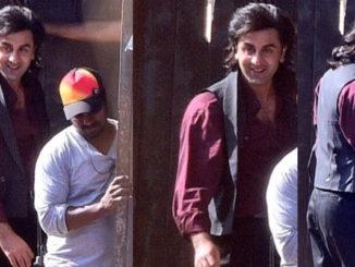 Ranbir Kapoor shooting for Sanjay Dutt biopic. Image Courtesy: Twitter