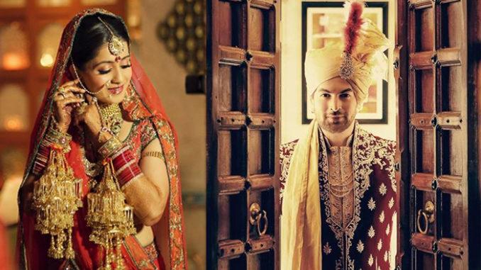 Rukmini Sahay, Neil Nitin Mukesh on their wedding day. Image Courtesy: The Wedding Story