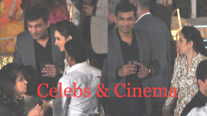Sandeep Toshniwal with Karisma Kapoor at Randhir Kapoor's 70th birthday