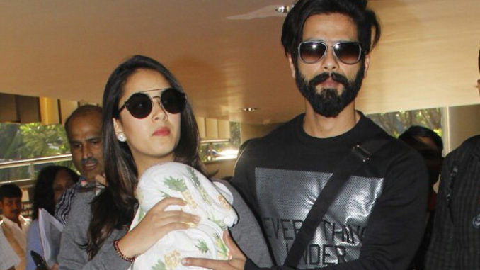 Shahid Kapoor, Mira Rajput with daughter Misha
