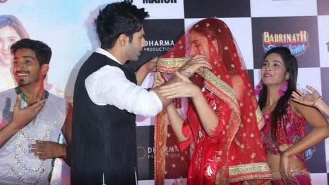 Varun Dhawan, Alia Bhatt at the trailer launch of Badrinath Ki Dulhania